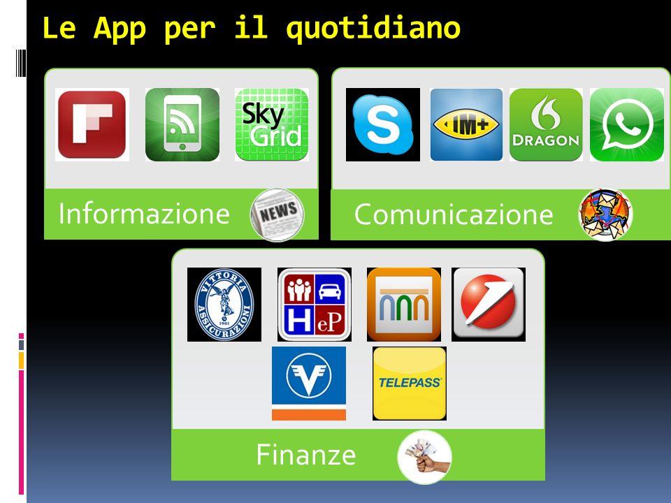 Le App per il quotidiano Informazione Comunicazione Finanze