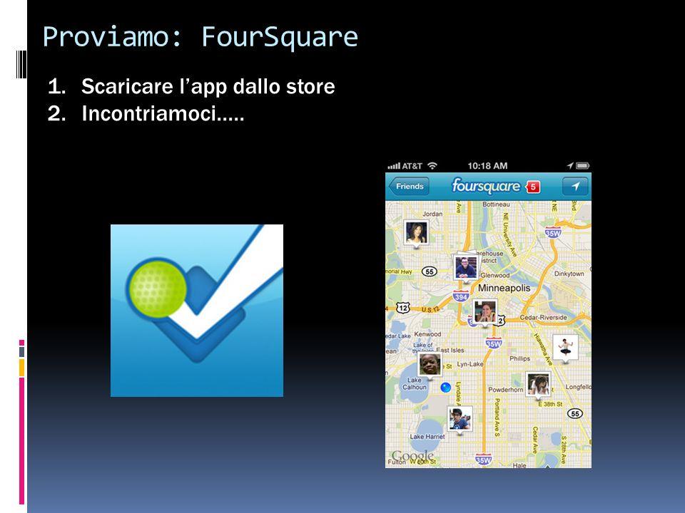 Proviamo: FourSquare 1.Scaricare lapp dallo store 2.Incontriamoci.....