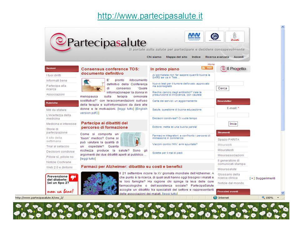 Assistenza on-line help autoesplicativo e-mail dellautore mailing-list per aggiornamento/ulteriori informazioni motore di ricerca interno al sito Principi di qualità per la valutazione dei siti medici IRF Mario Negri.