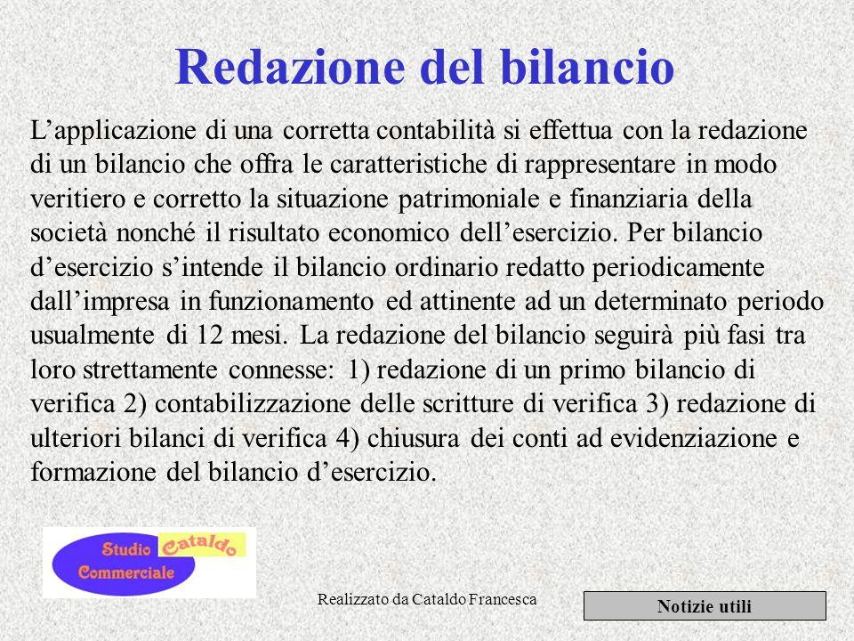 Realizzato da Cataldo Francesca Piano dei conti, prima nota, libro giornale e mastro Notizie utili Il piano dei conti è lelemento organico e sistemati