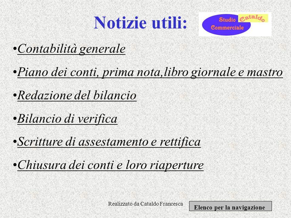 Realizzato da Cataldo Francesca Sezione modulistica Elenco per la navigazione Ministero delle finanze: presente sul sito dellagenzia delle entrate; Ca