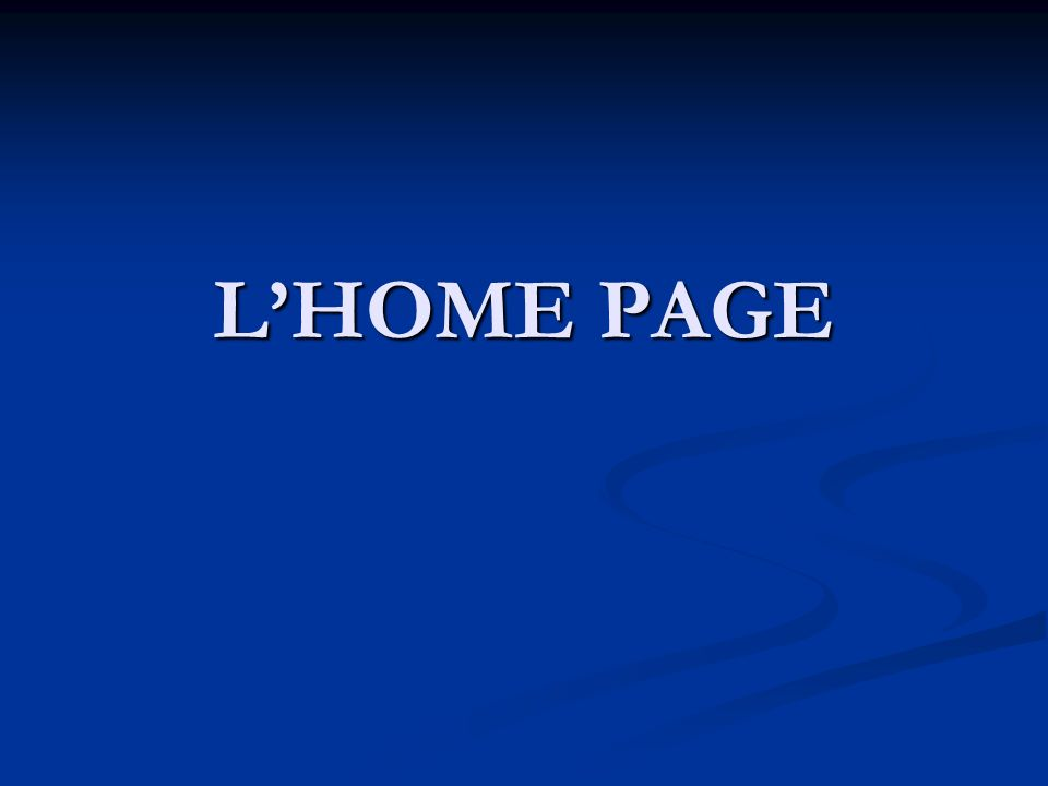 LHOME PAGE