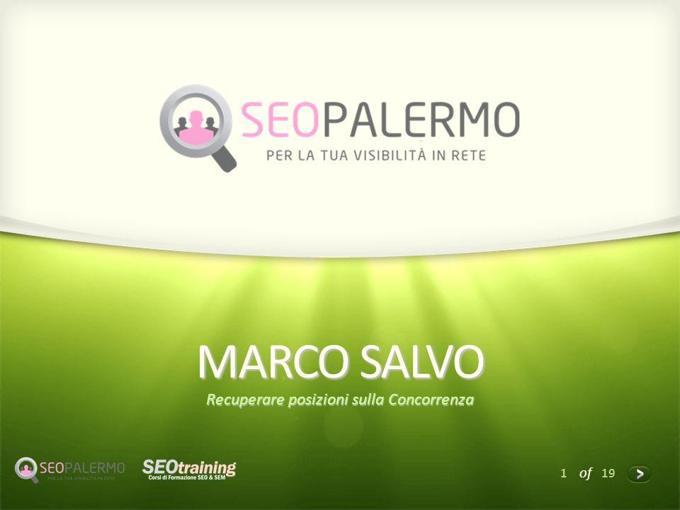 1 of 19 MARCO SALVO Recuperare posizioni sulla Concorrenza
