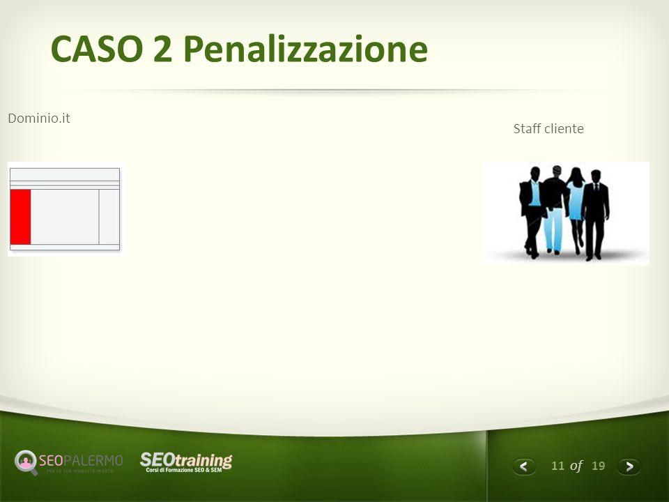 11 of 19 CASO 2 Penalizzazione Dominio.it Staff cliente