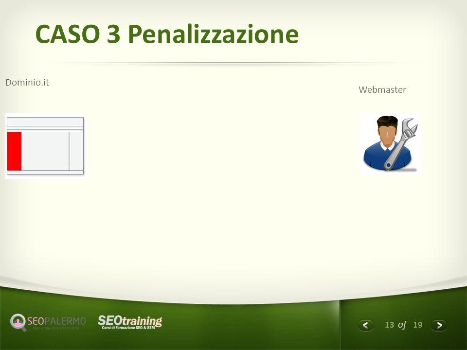 13 of 19 CASO 3 Penalizzazione Dominio.it Webmaster