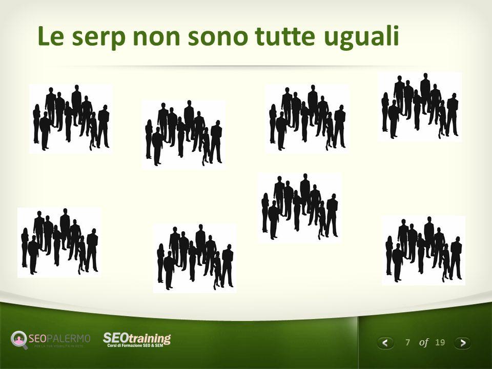 8 of 19 CASO 1 Penalizzazione Dominio.it MIO CLIENTE: Sito.dominio.it Vecchio sito CON TRUST