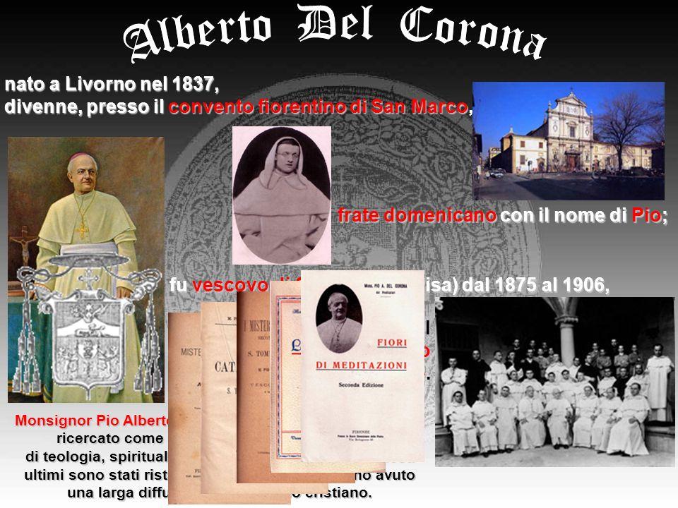 Pio Alberto Del Corona nel 1872 fondò, insieme alla Madre Pia Elena Bonaguidi, la Congregazione delle Suore Domenicane dello Spirito Santo.
