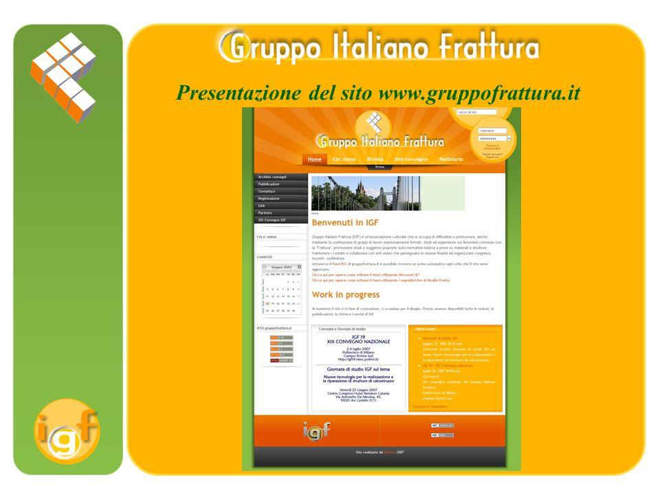 Presentazione del sito www.gruppofrattura.it