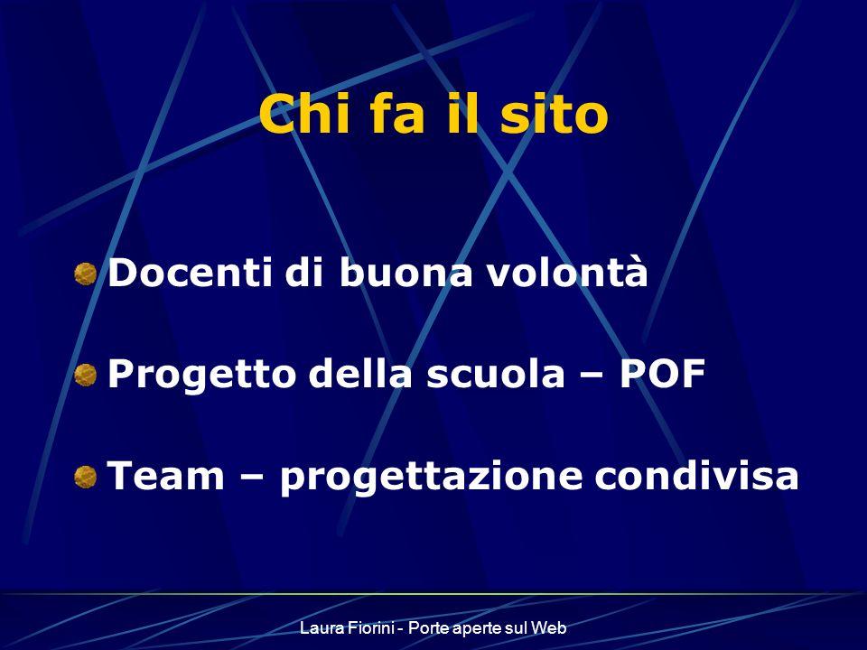 Laura Fiorini - Porte aperte sul Web Aggiornamento del sito Sviluppare la cultura e la sensibilità dellaccessibilità Formare i colleghi Essere punto di riferimento per il territorio