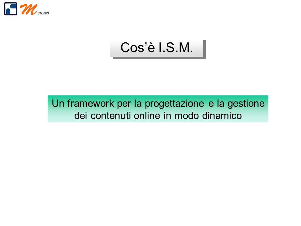 Un framework per la progettazione e la gestione dei contenuti online in modo dinamico Cosè I.S.M.