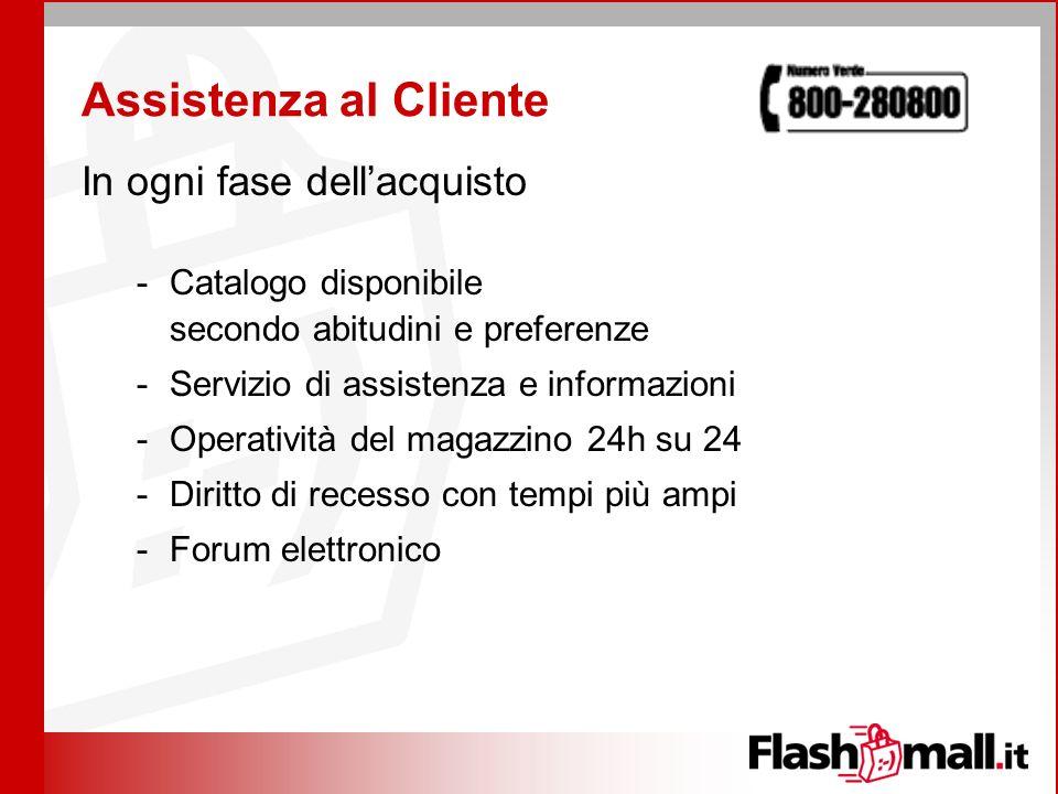 Assistenza al Cliente In ogni fase dellacquisto -Catalogo disponibile secondo abitudini e preferenze -Servizio di assistenza e informazioni -Operativi