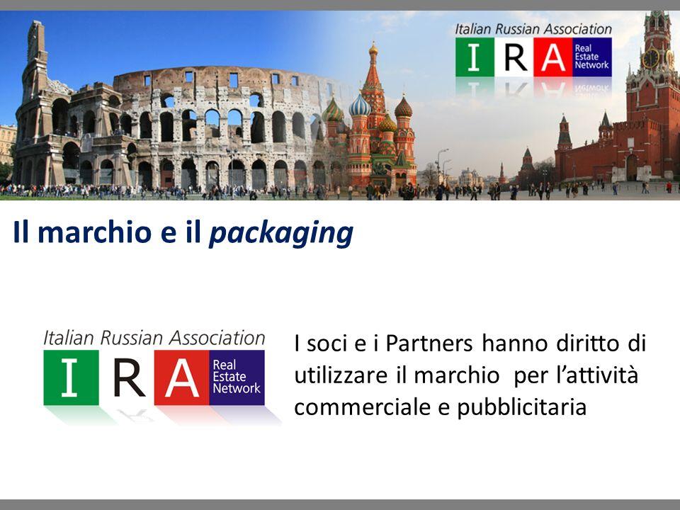 Il marchio e il packaging I soci e i Partners hanno diritto di utilizzare il marchio per lattività commerciale e pubblicitaria
