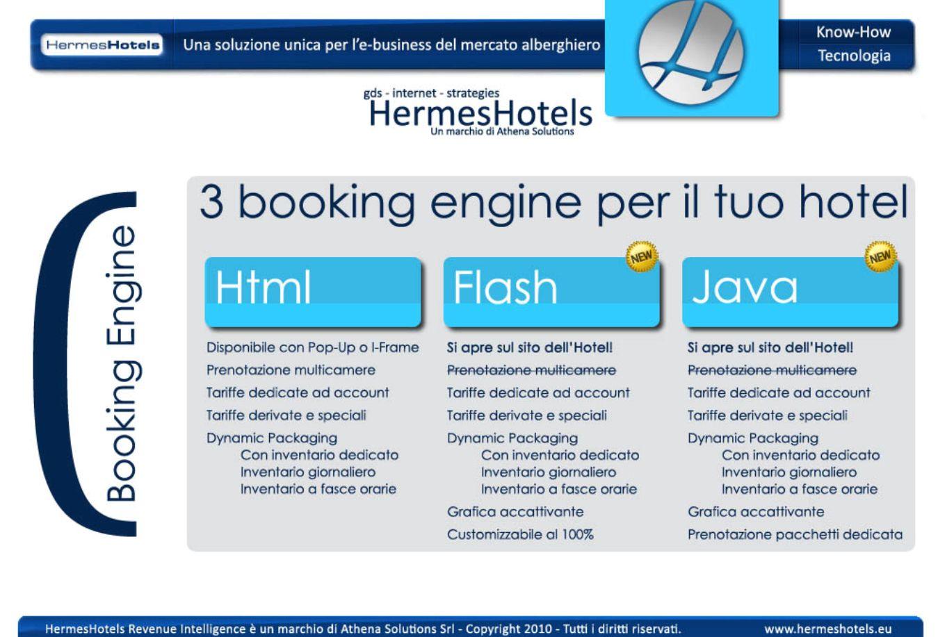 Il Booking Engine Html di HermesHotels è studiato per permettere I-Frame sui siti degli Hotels.