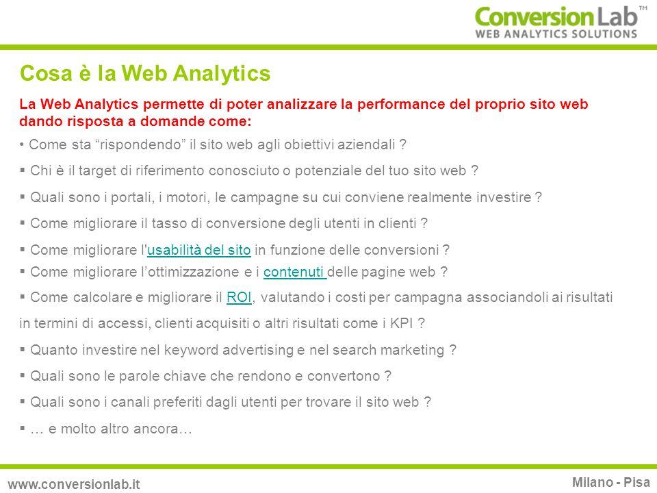 La Web Analytics permette di poter analizzare la performance del proprio sito web dando risposta a domande come: Come sta rispondendo il sito web agli