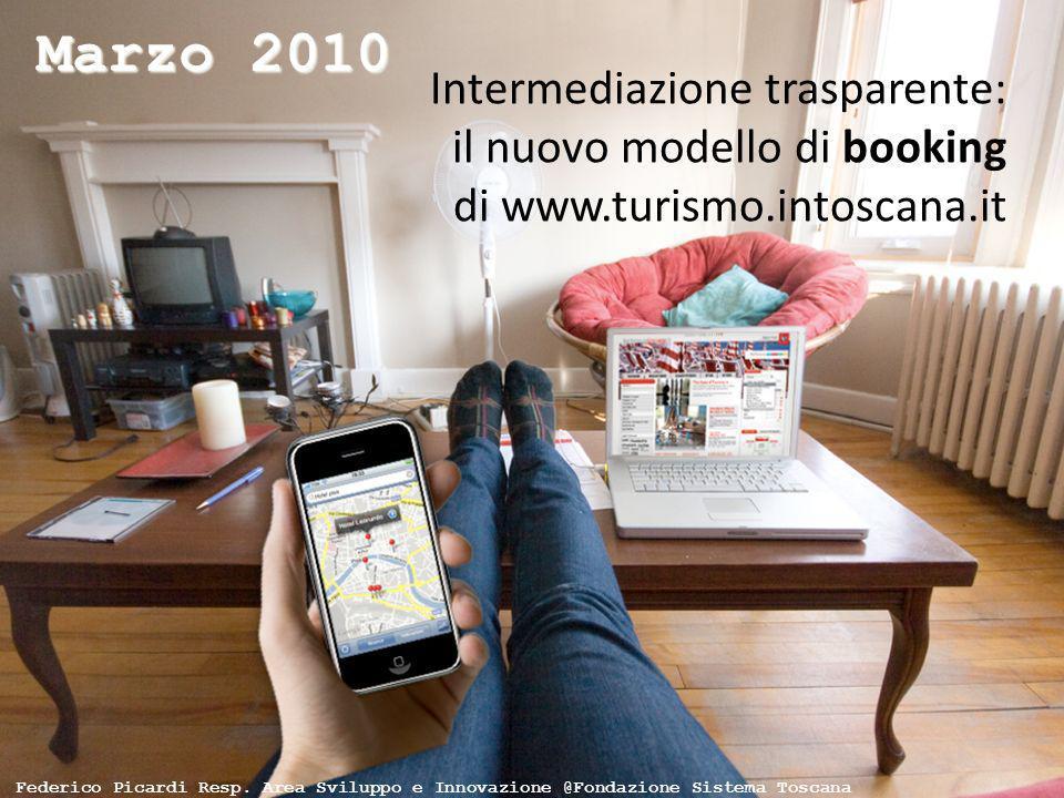 Intermediazione trasparente: il nuovo modello di booking di www.turismo.intoscana.it Marzo 2010 Federico Picardi Resp. Area Sviluppo e Innovazione @Fo