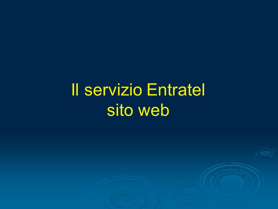 Il servizio Entratel sito web
