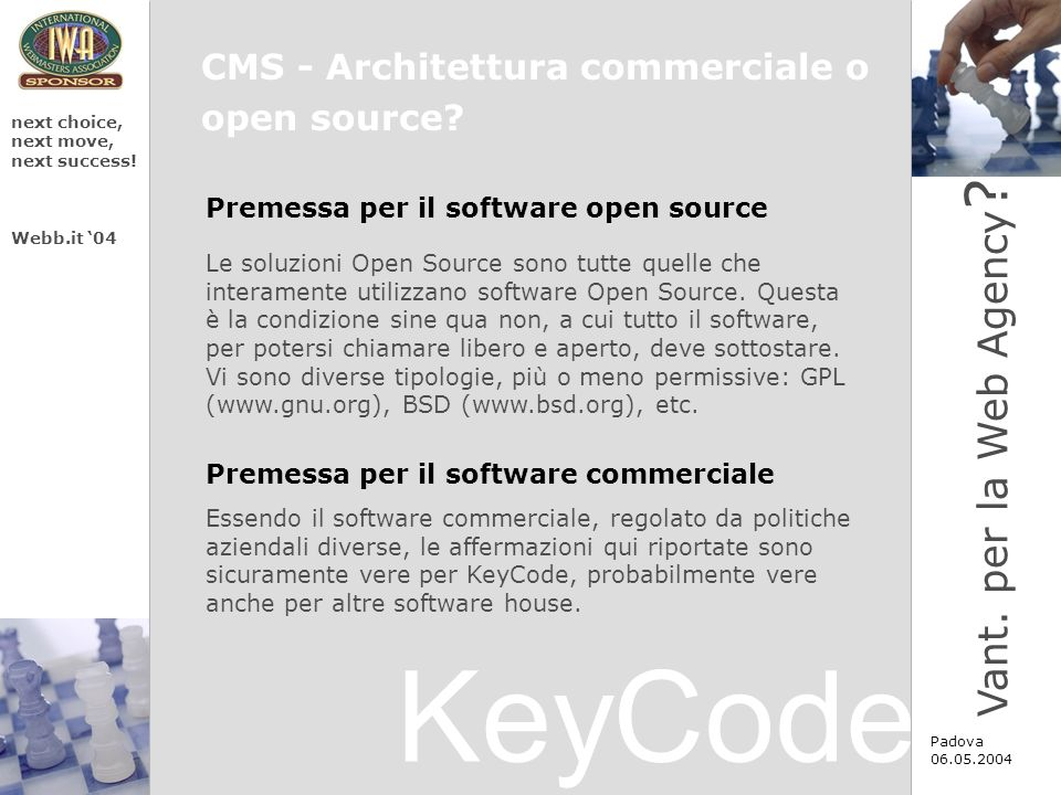 KeyCode next choice, next move, next success.