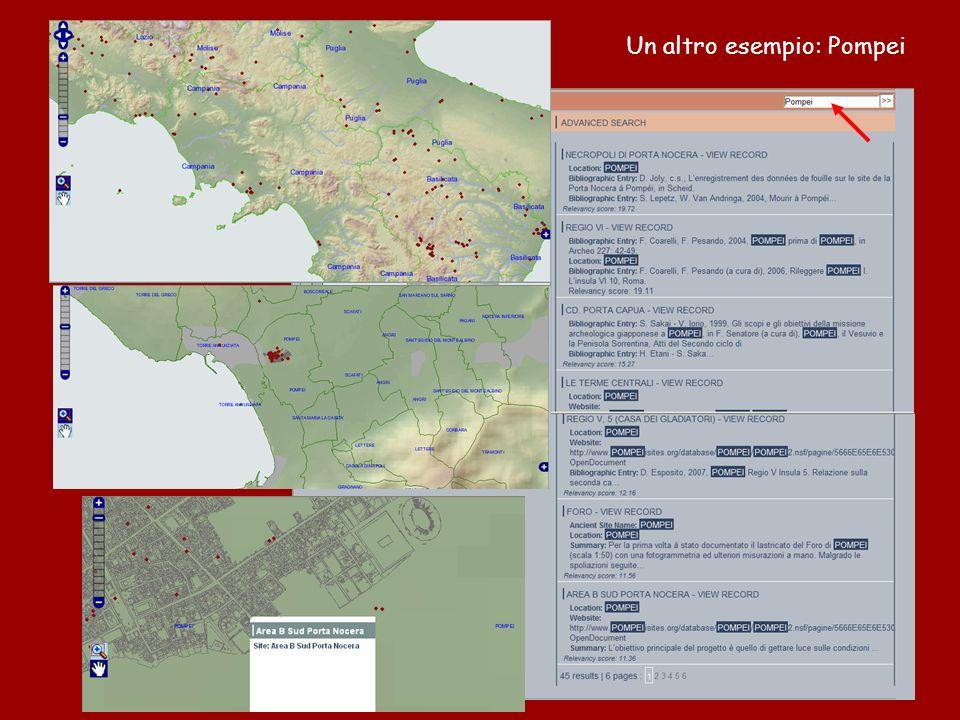 Un altro esempio: Pompei