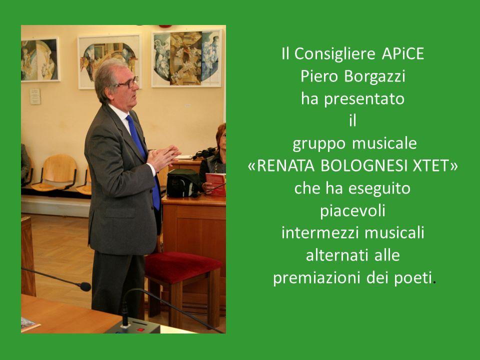 Il Consigliere APiCE Piero Borgazzi ha presentato il gruppo musicale «RENATA BOLOGNESI XTET» che ha eseguito piacevoli intermezzi musicali alternati a