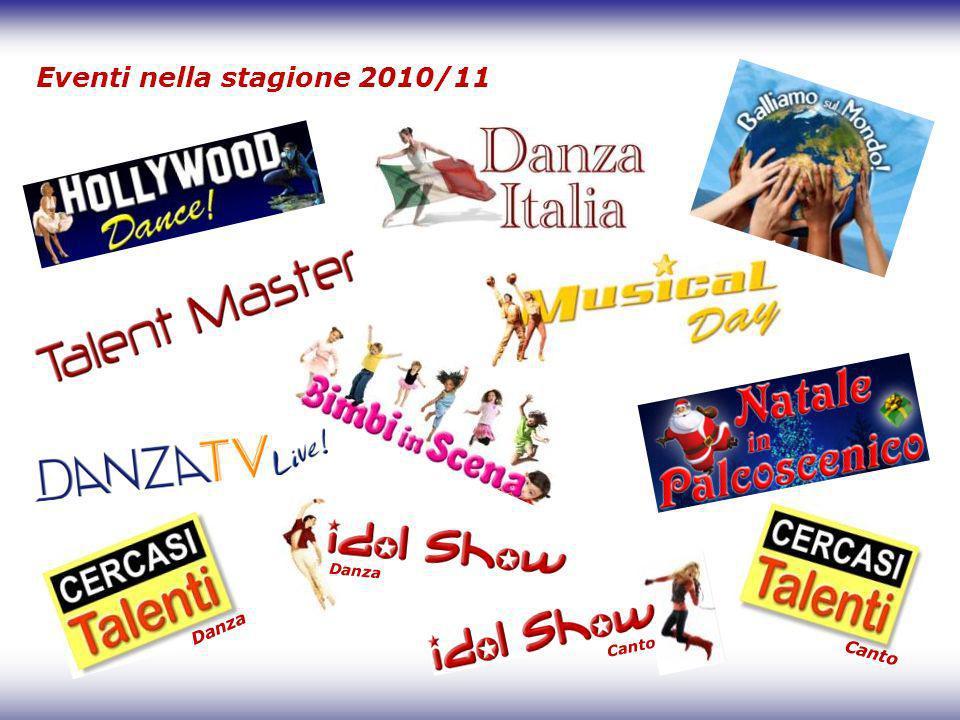 Eventi nella stagione 2010/11 Danza Canto Danza