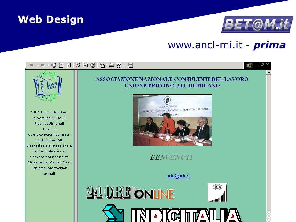 15 www.ancl-mi.it - dopo Web Design