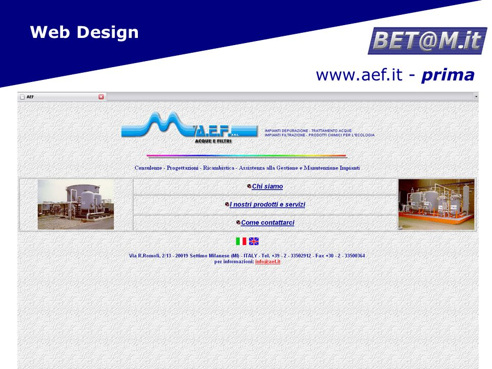 17 www.aef.it - dopo Web Design