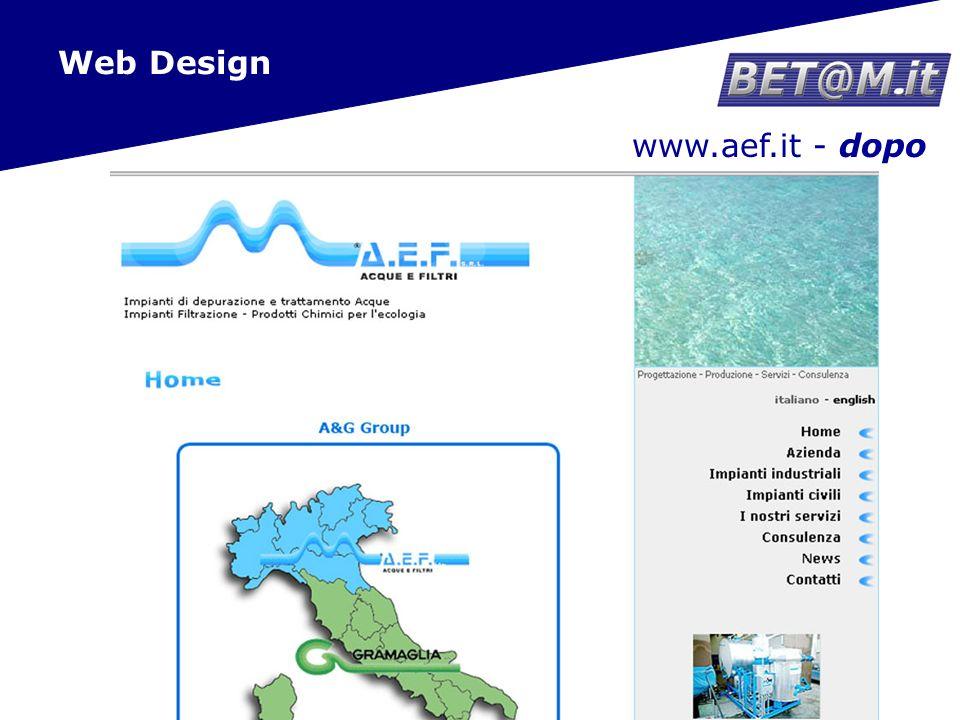 17 www.aef.it - dopo Web Design