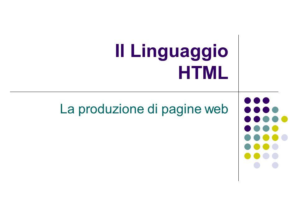 Il linguaggio HTML - Cristina Fregni I collegamenti ipertestuali La principale caratteristica di un ipertesto è la possibilità di consultare il documento in modo non sequenziale attraverso luso di collegamenti ad altri oggetti o pagine.