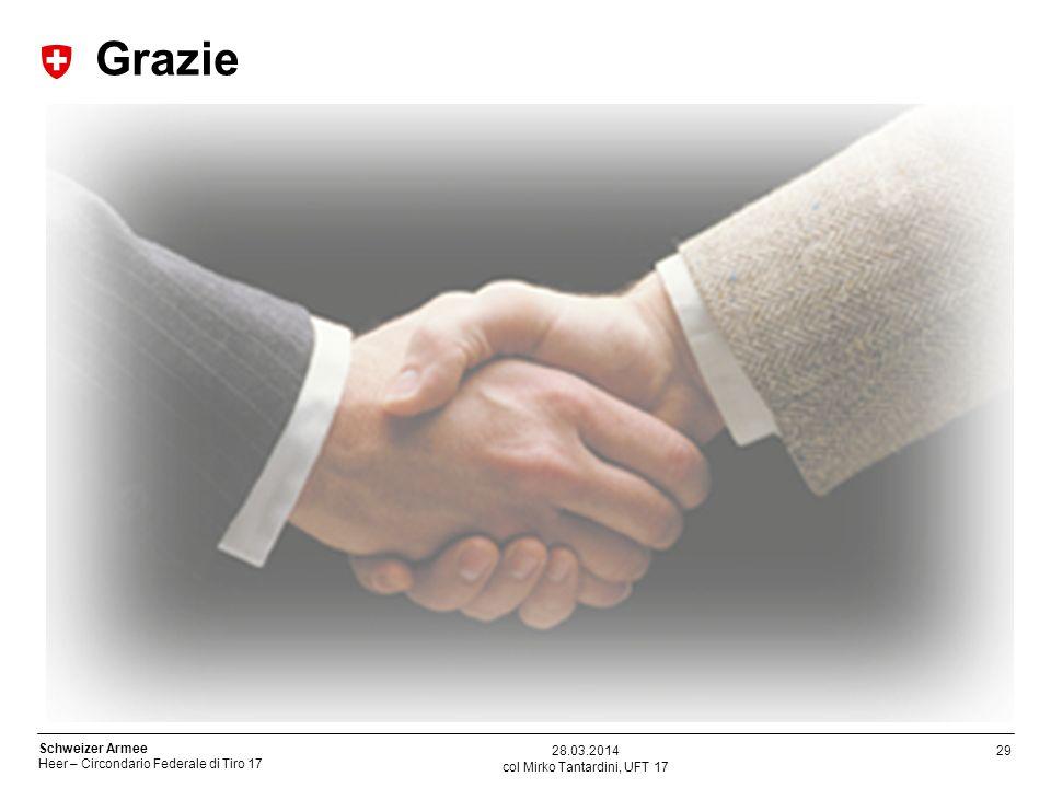 29 Schweizer Armee Heer – Circondario Federale di Tiro 17 col Mirko Tantardini, UFT 17 28.03.2014 Grazie