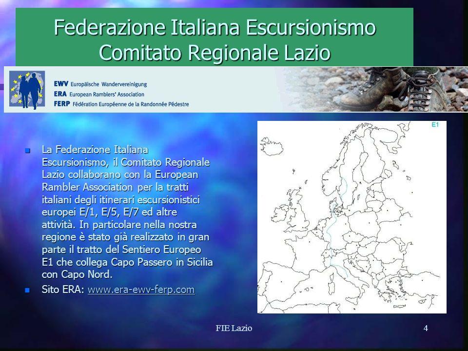 FIE Lazio3 Federazione Italiana Escursionismo Comitato Regionale Lazio