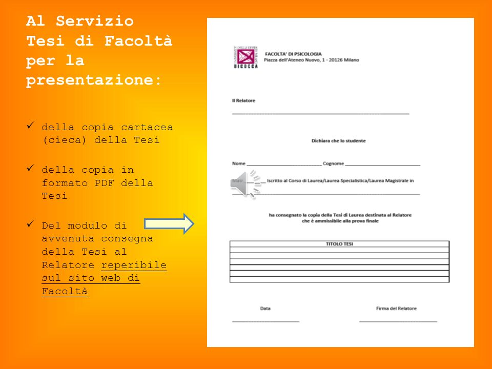 SEGRETERIA GENERALE STUDENTI per: Presentazione di domanda di laurea su SEGRETERIE online; Presentazione della domanda in forma cartacea e della fotoc