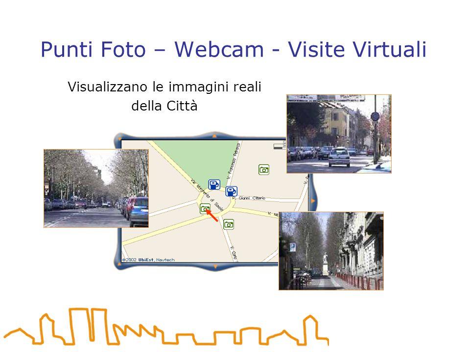 Punti Foto – Webcam - Visite Virtuali Visualizzano le immagini reali della Città