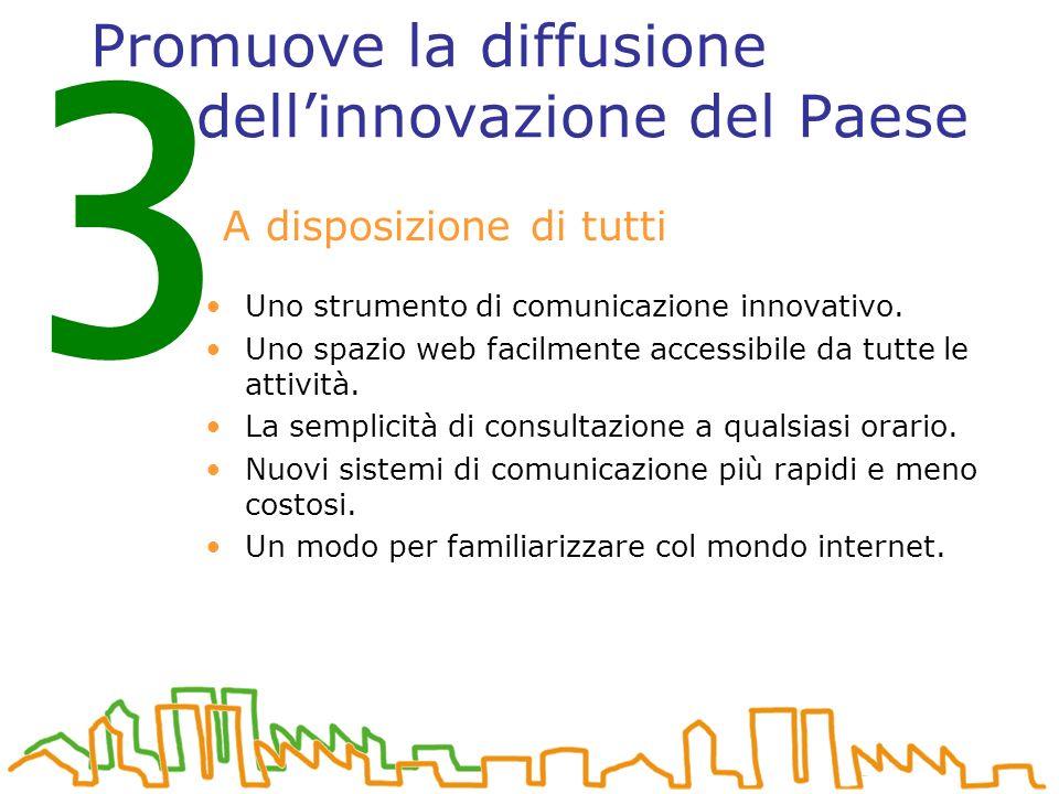 Promuove la diffusione dellinnovazione del Paese Uno strumento di comunicazione innovativo.