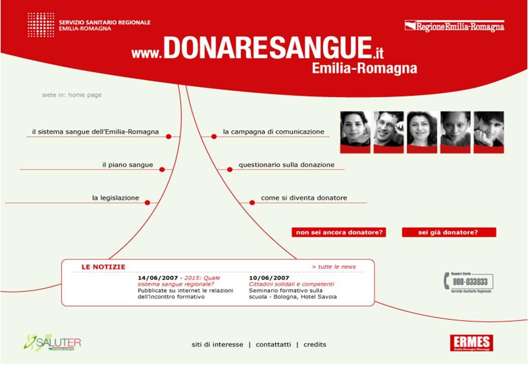 REGIONE EMILIA-ROMAGNA - AVIS - FIDAS/ADVS 14 Sito internet