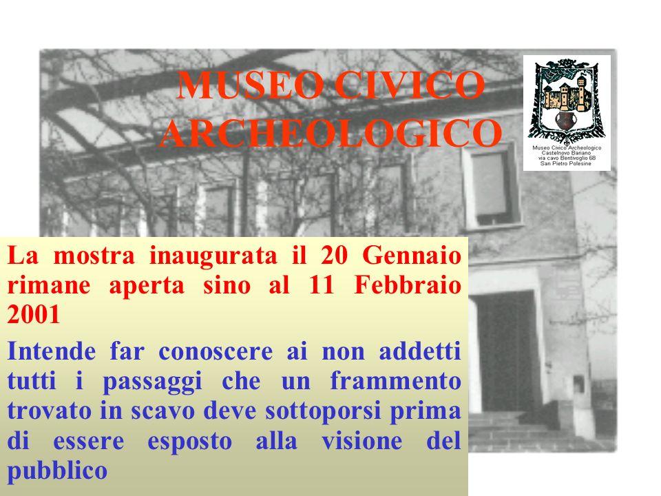 Da alcuni anni il Museo Civico di Castelnovo Bariano collabora con la Soprintendenza Archeologica del Veneto in un paziente lavoro sui materiali provenienti dagli scavi archeologici.