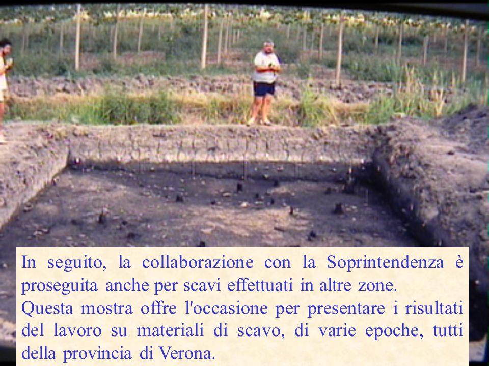 In seguito, la collaborazione con la Soprintendenza è proseguita anche per scavi effettuati in altre zone.