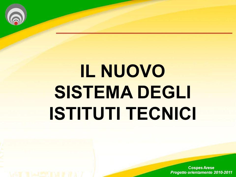 IL NUOVO SISTEMA DEGLI ISTITUTI TECNICI Cospes Arese Progetto orientamento 2010-2011