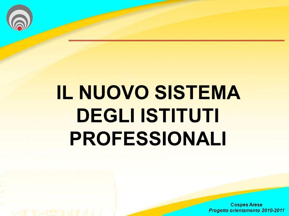 IL NUOVO SISTEMA DEGLI ISTITUTI PROFESSIONALI Cospes Arese Progetto orientamento 2010-2011