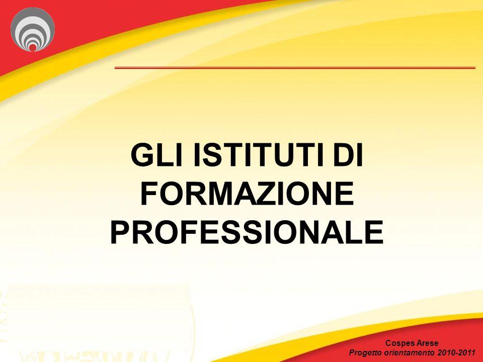 GLI ISTITUTI DI FORMAZIONE PROFESSIONALE Cospes Arese Progetto orientamento 2010-2011