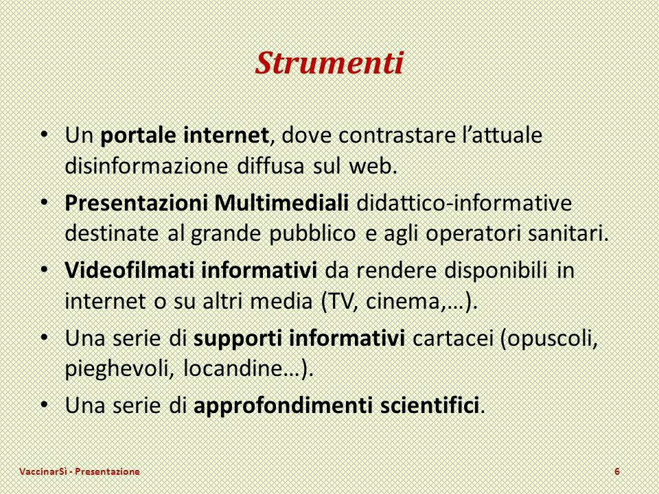 Strumenti Un portale internet, dove contrastare lattuale disinformazione diffusa sul web.