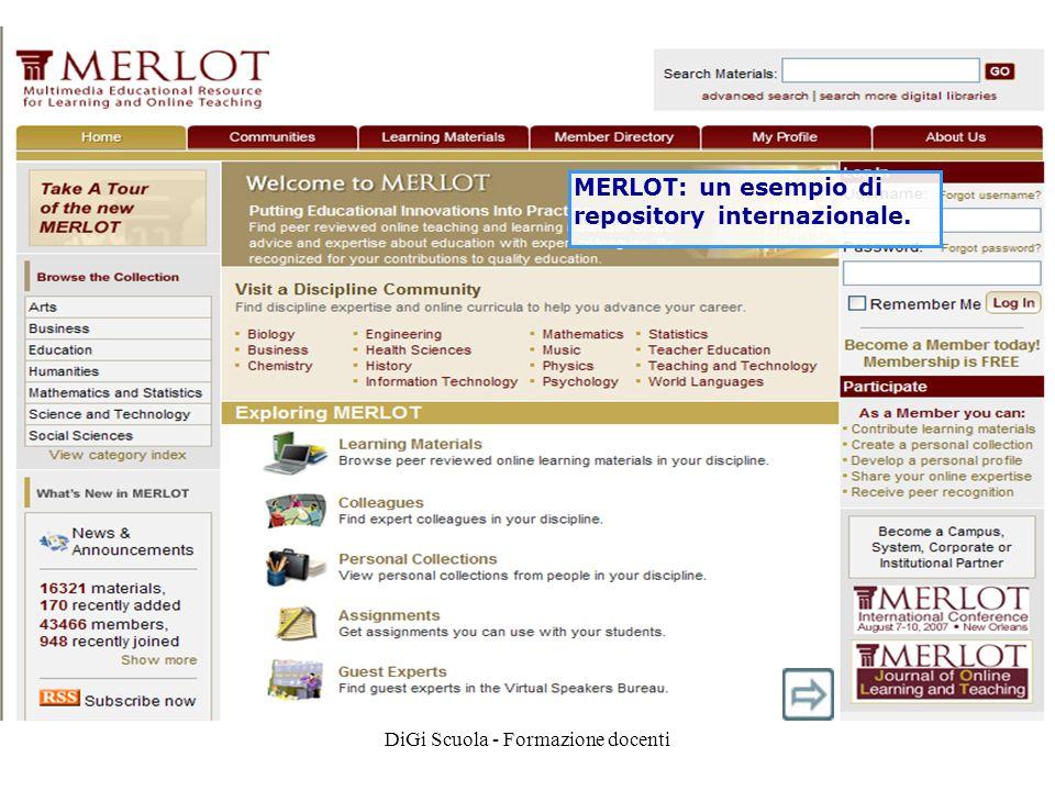 DiGi Scuola - Formazione docenti MERLOT: un esempio di repository internazionale.