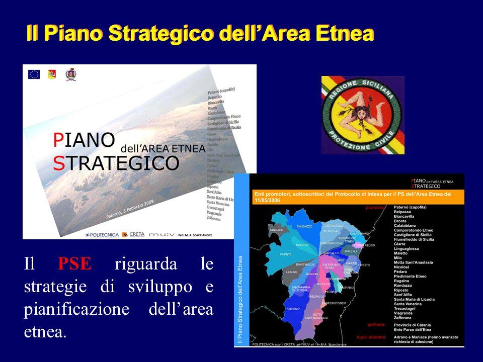 Il Piano Strategico dellArea Etnea Il PSE riguarda le strategie di sviluppo e pianificazione dellarea etnea.