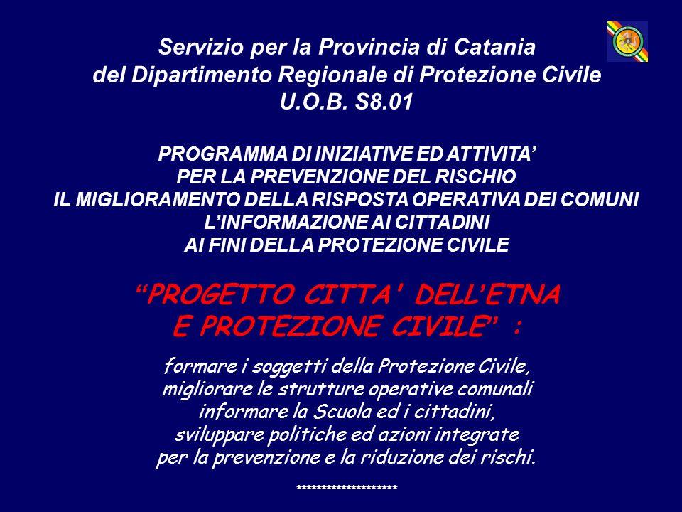 Servizio per la Provincia di Catania del Dipartimento Regionale di Protezione Civile U.O.B.