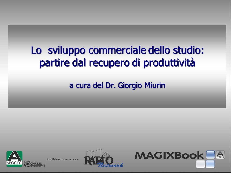Lo sviluppo commerciale dello studio: partire dal recupero di produttività a cura del Dr. Giorgio Miurin