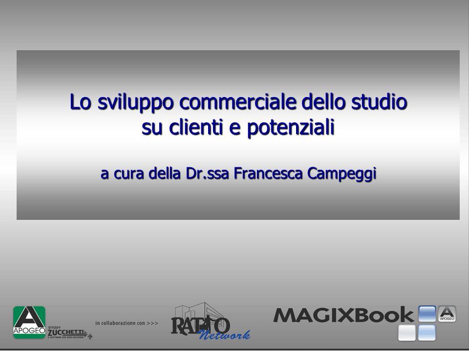 Lo sviluppo commerciale dello studio su clienti e potenziali a cura della Dr.ssa Francesca Campeggi