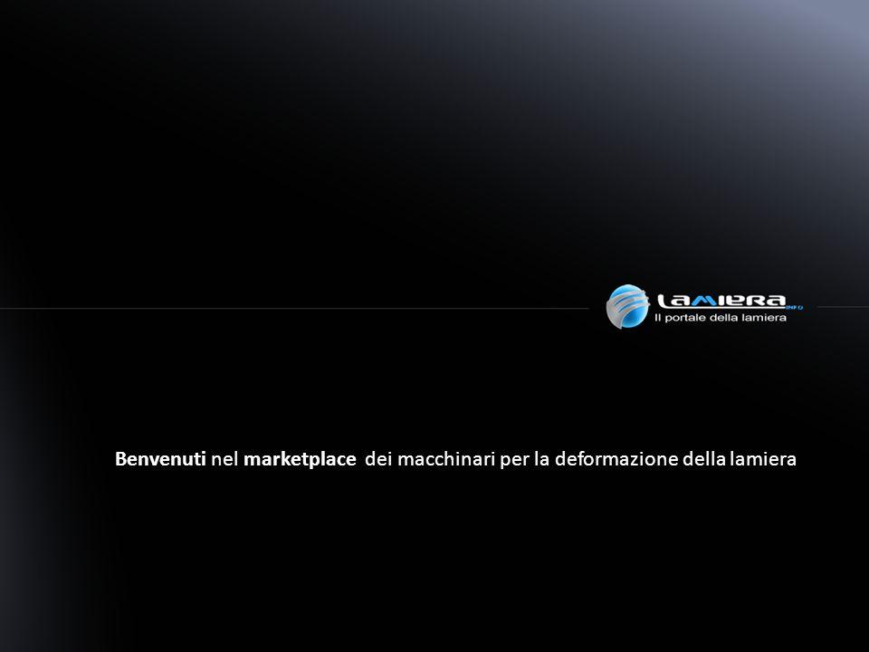 Benvenuti nel marketplace dei macchinari per la deformazione della lamiera
