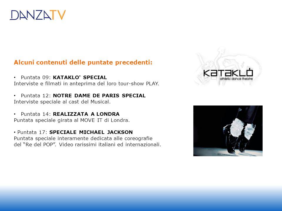 Alcuni contenuti delle puntate precedenti: Puntata 09: KATAKLO SPECIAL Interviste e filmati in anteprima del loro tour-show PLAY.