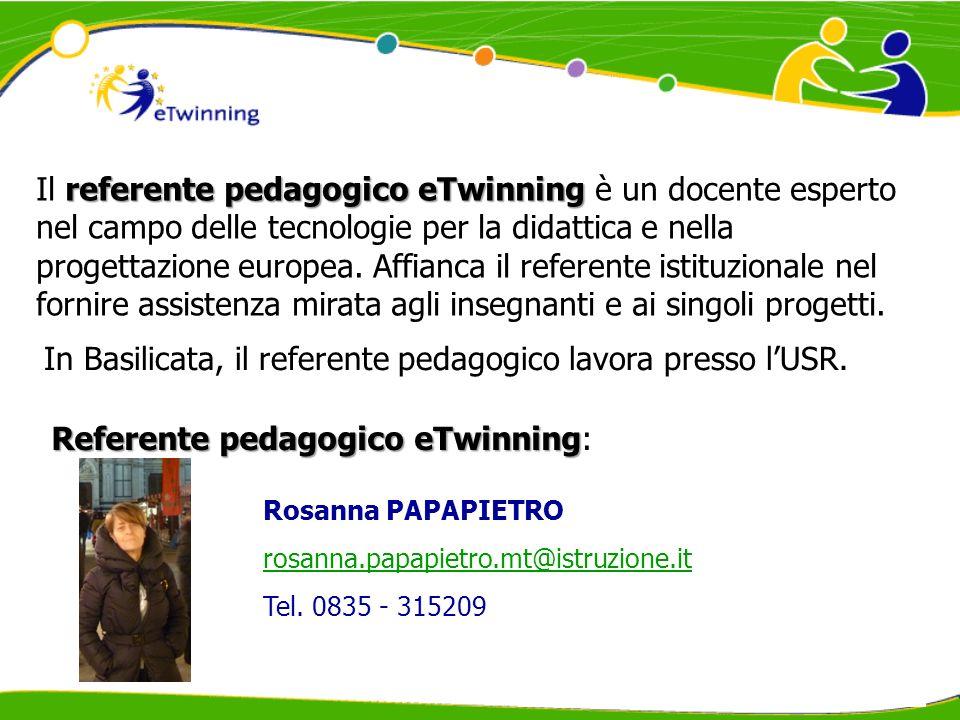 referente pedagogico eTwinning Il referente pedagogico eTwinning è un docente esperto nel campo delle tecnologie per la didattica e nella progettazione europea.