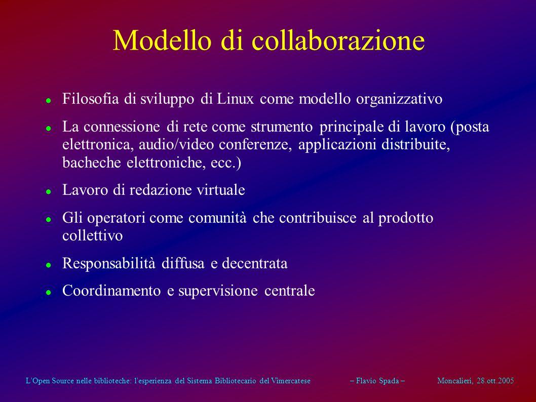 L'Open Source nelle biblioteche: l'esperienza del Sistema Bibliotecario del Vimercatese – Flavio Spada – Moncalieri, 28.ott.2005 Economicità Drastica