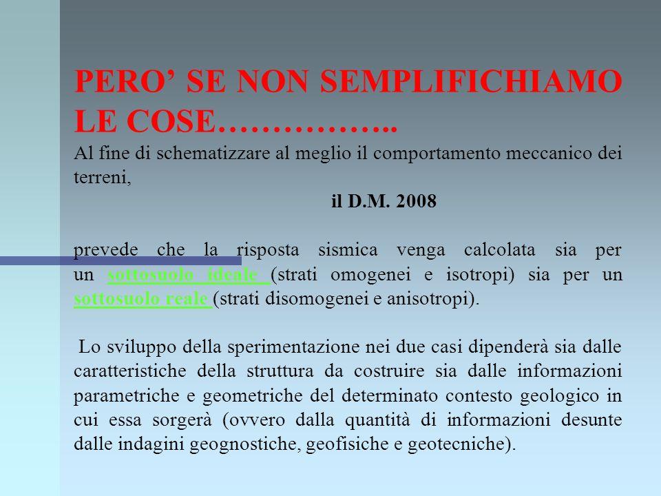 Per il calcolo dellaccelerazione sismica attesa al sito è stato utilizzato un codice di calcolo numerico basato sulla teoria della propagazione delle onde sismiche nel sottosuolo e la teoria del comportamento non lineare e dissipativo dei terreni in condizioni dinamiche.